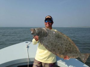 edible fish: catching flounders